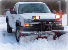 Snow plowing in Newburgh NY
